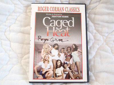 CAGED HEAT DVD SIGNED AUTOGRAPHED ROGER CORMAN WOMEN IN PRISON SLEAZE CLASSIC
