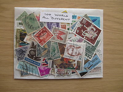 SPECIAL OFFER,100 WORLD STAMPS, ALL DIFFERENT, OFF PAPER, ONLY £0.99p POST PAID