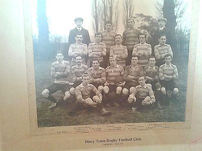 Team photo of olney rugby club .1909