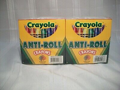 Crayola Anti-Roll Non-Toxic Crayons, 12 Packs of 8 Crayons BINNEY & SMITH 05238 - Non Toxic Crayons