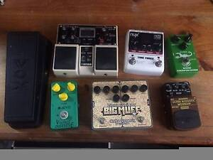 Mixed Guitar Pedals (Vox Wah, Big Muff, Joyo, Boss DD20, Nux) Warana Maroochydore Area Preview