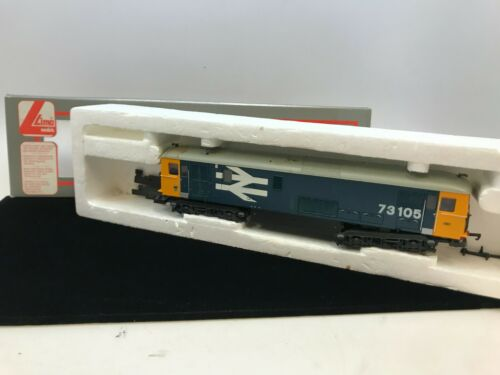 Lima Class 73 Diesel Loco 73105 BR large logo blue/yellow boxed 205274 - As Is