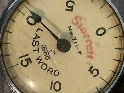 Starrett Last Word Test Indicator With Case.