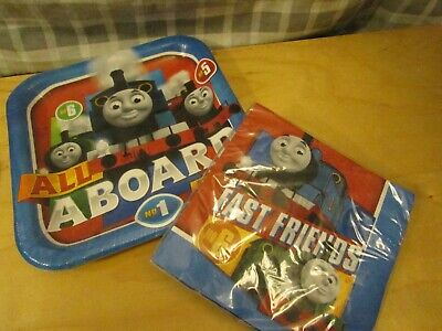 Thomas The Train & Friends Birthday Party Supplies Plates & Napkins