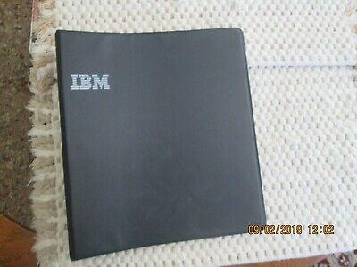 Ibm Logo Vintage 3 Ring Binder Black