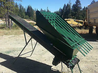 Feed Hopper Conveyor w/grizzly,  Shop Built, for gold mining/aggregate, 10ft