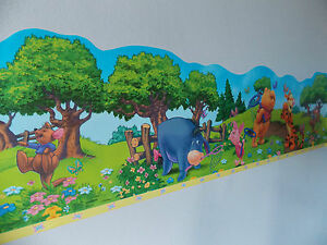 winnie the pooh tigger eeyore piglet shaped self adhesive wallpaper border ebay. Black Bedroom Furniture Sets. Home Design Ideas