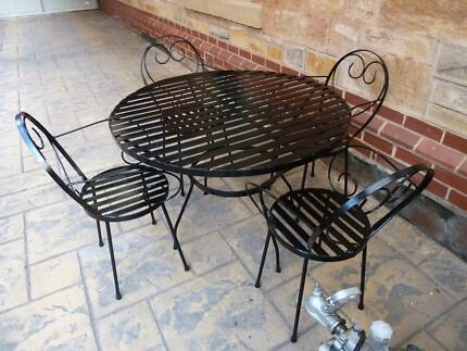 Wrought Iron Table and Chairs setting