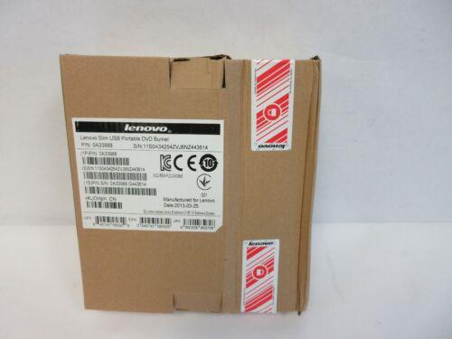 Brand New Sealed Lenovo 0A33988 Slim USB Portable DVD Burner
