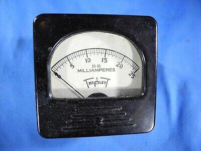 Triplett 0-25 D.c. Milliamperes Analog Meter Movement Model 327-a