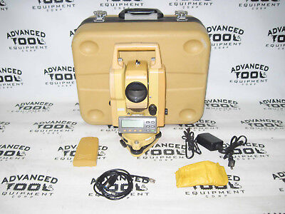 Topcon Gts-226 Total Station Transit With Case Charger 2 Batteries