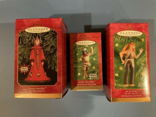 Star Wars Hallmark Keepsake Christmas Ornaments Amidala Anakin Jar-Jar
