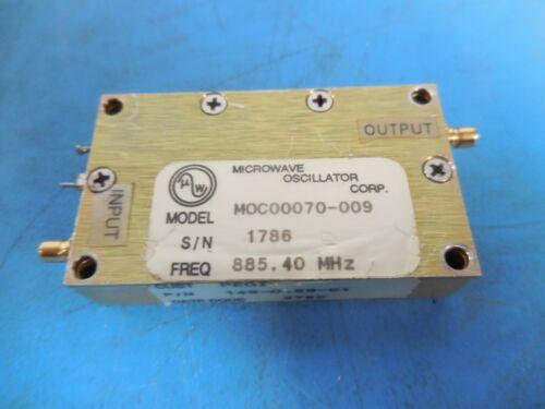 Microwave Oscillator Corp MOC00070-009 Freq. 885.40 MHz