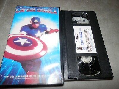 Captain America 1992 Movie (Captain America 1990 1992 Live Action RARE VHS Clamshell Columbia)