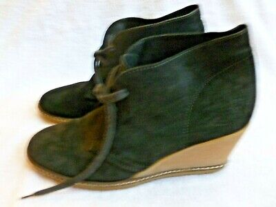 J CREW MACALISTER suede leather wedge lace up ankle boots booties womens shoes 8