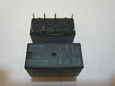 8x Omron G5v-2 5vdc Power Relay Through Hole Straight Mount Us Ship