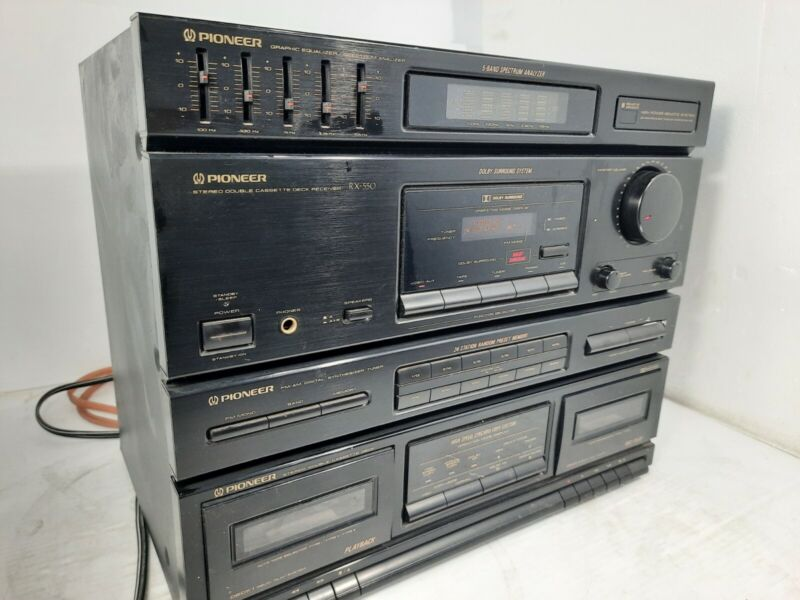 Vintage Pioneer RX-550 Home Audio System Console Only -■F■ No Remote ■F■
