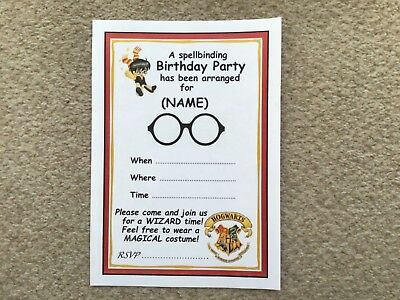 Harry Potter Themed Birthday Party (Harry Potter Theme Birthday Party Invitations PERSONALISED 20 Pack A5)