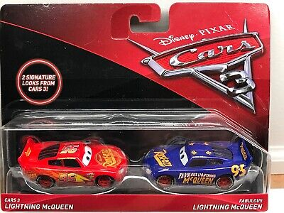 Disney Pixar Cars 3 Lightning McQueen & Fabulous Lightning McQueen 2 pack