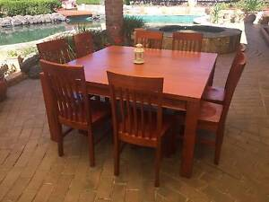 Pine Dining Table + 8 chairs Frankston South Frankston Area Preview