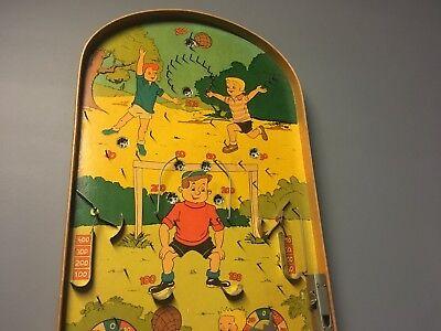 Vintage Pinball Bagatelle Game Sports Rare