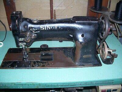 Singer 112w115 Needle Feed Double Needle Industrial Sewing Machine 38 Gauge