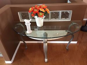 Glass Sofa Table