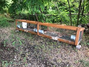 Rabbit cage - 12ft x 2.5ft