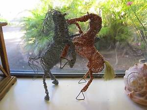 Wire woven horses - local artist Yorkeys Knob Cairns City Preview