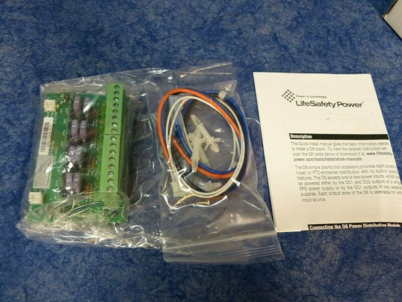 LifeSafety Power A02-001 D8 8-Zone Distribution Board
