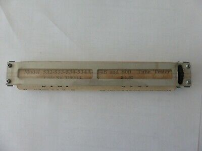 Hickok Model 532-533-534-534a-534b And 600 Tube Testers Roll Chart Assembly