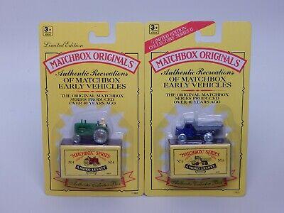 Matchbox Originals Recreations Euclid Dump Truck No.6 & Massey Tractor No 4 Lot