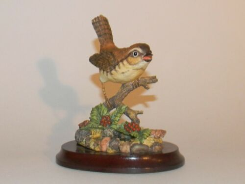 MARURI House Wren Premier Bird Collection Resin Figurine 1991 USA