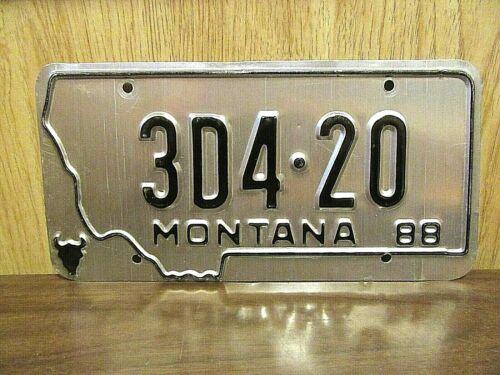 ERROR 1988 Montana 420 License Plate Tag # 3D420 Cannabis Marijuana
