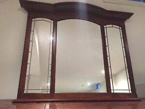 Panel solid wood mirror.