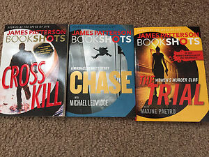 James Patterson Book Shots, Cross Kill, Chase, The Trial