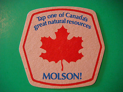Vintage Beer Coaster Mat   Molson   Tap One Of Canadas Great Natural Resources