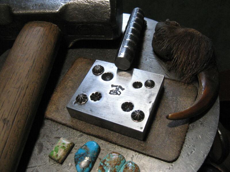 Custom 4 Impressions Shot Plate Jewelry Die Mold Steel Tool Stamp Bear Skull