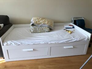Ikea Brimnes Daybed with Drawers and Mattress