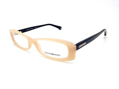 $300 EMPORIO ARMANI WOMENS BROWN EYEGLASSES FRAMES GLASSES OPTICAL EYE EA 3007