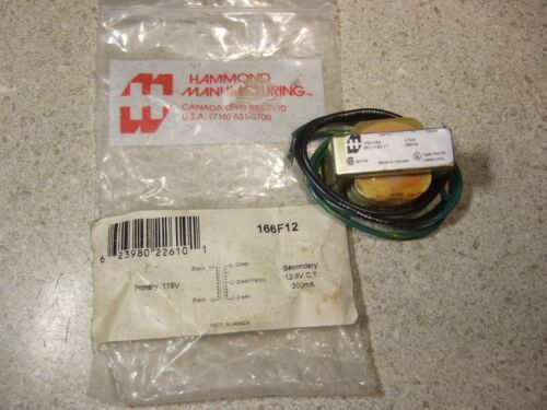 Hammond 166F12 New Transformer! 12.6VCT @ 300mA - Never used. In Original Pack!