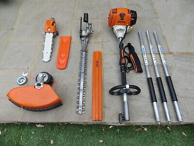 Stihl KM130 Kombi Engine + Hedge Trimmer + Chainsaw Pruner + Strimmer Set