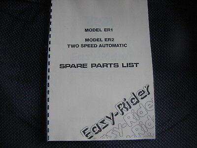 NVT & BSA Eazy Rider ER1 & ER2 PARTS BOOK - BP74 09-0906