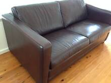 Moran leather 2.5 double seater sofa bed Mittagong Bowral Area Preview