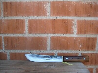 "Vintage 7"" Blade *** SHAPLEIGH *** Small Carbon Steel Butcher Knife USA"