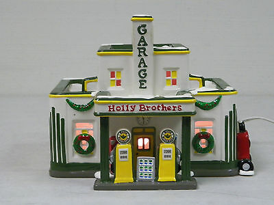 Department 56 Snow Village 1995 Holly Brothers Garage Used In Original Box