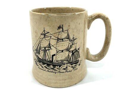 Vintage Lord Nelson Pottery Mug England Sailing Ship Savannah Steam Packet