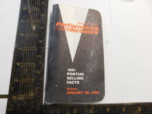 1991 PONTIAC SALESMAN BOOKLET ALL MODELS