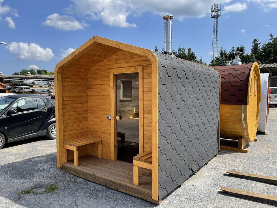 Cubic-Sauna300cm mit Terrasse sofort verfügbar Sauna mit Holzofen in Wandlitz