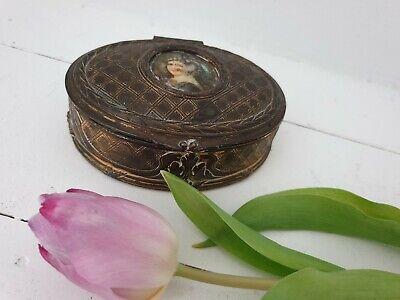 French bronze effect spelter trinket box.